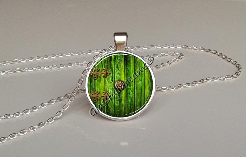 Green fairy door pendant & Green fairy door pendant \u2014 Glassfulldreams Shop - Handmade ...