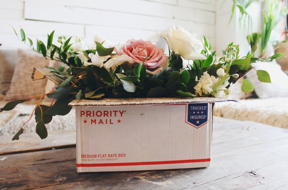 mailing & dropping off your flowers -