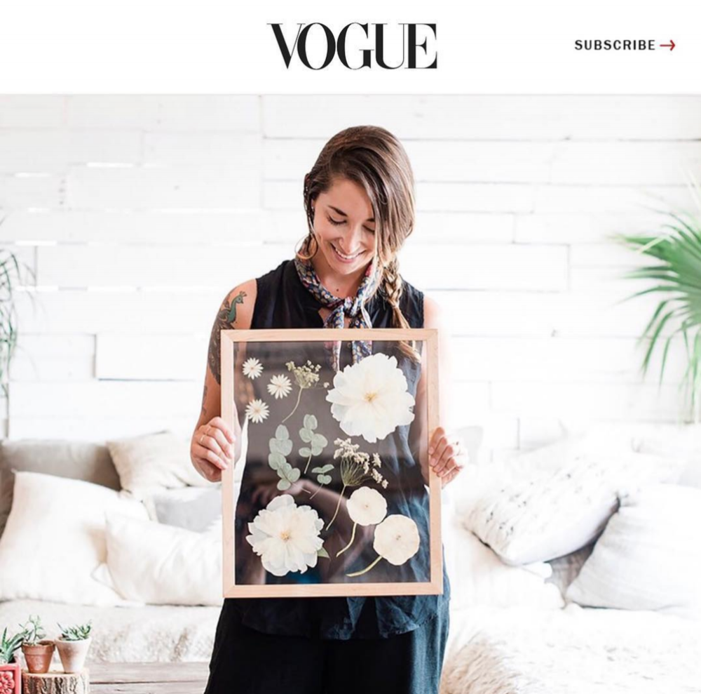 VOGUE FRAMED FLORALS