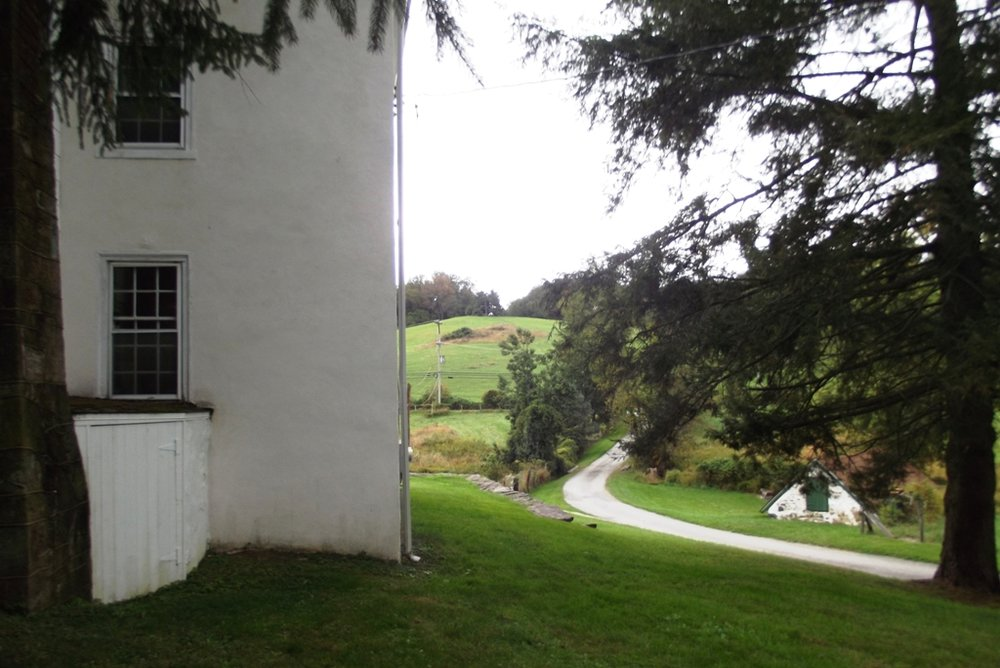Kuerner Farm and the hill in the back