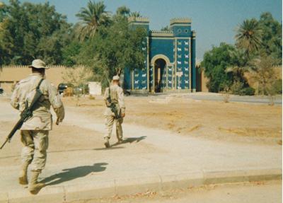 Ishtar Gate replica, Babylon, Iraq.Courtesy of Jeremy Warneke.