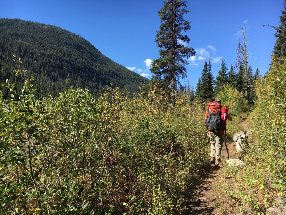 Hiking through the Cascades.