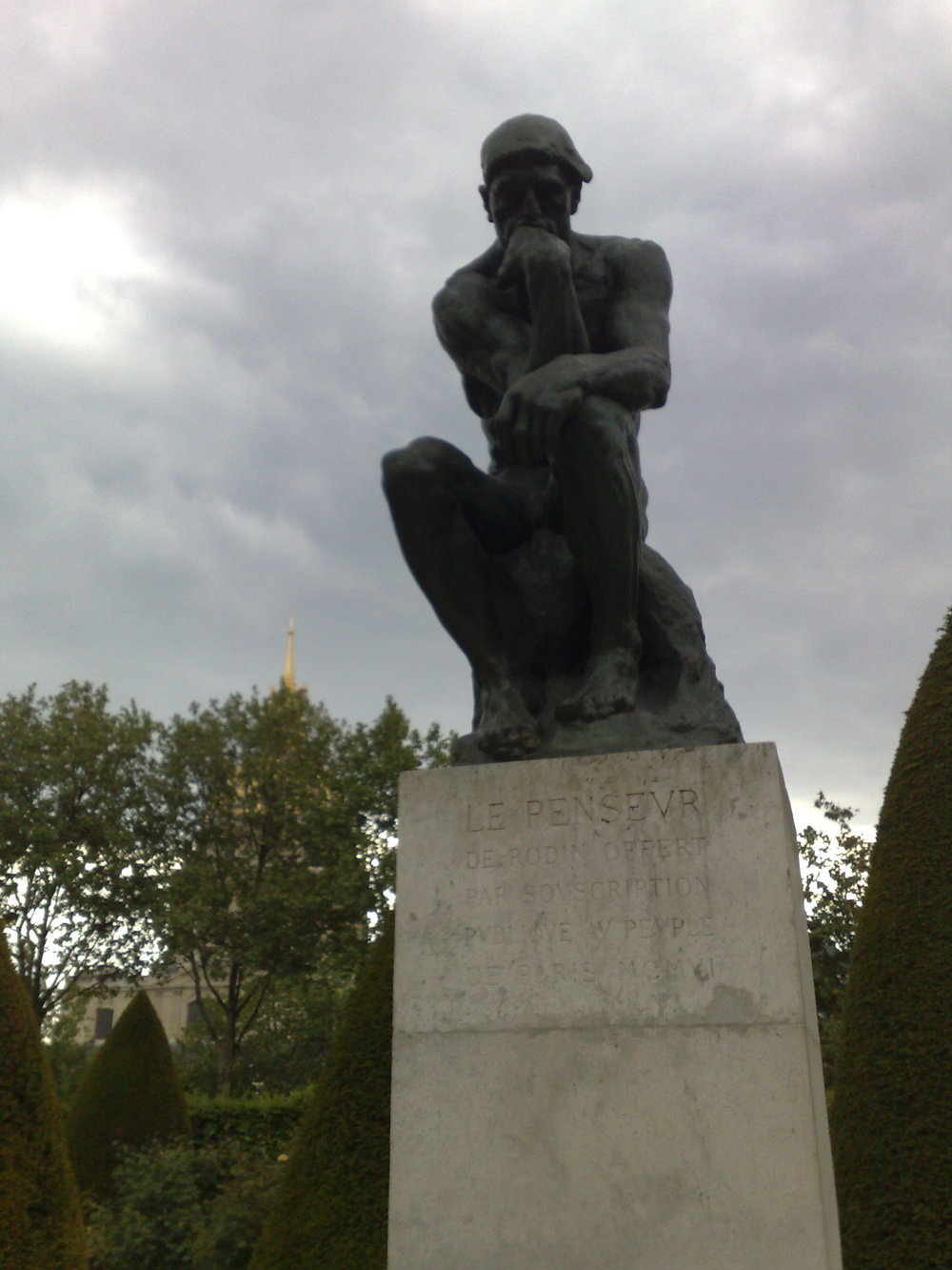 Rodin's  The Thinker . And it's certainly the place for cogitation.""
