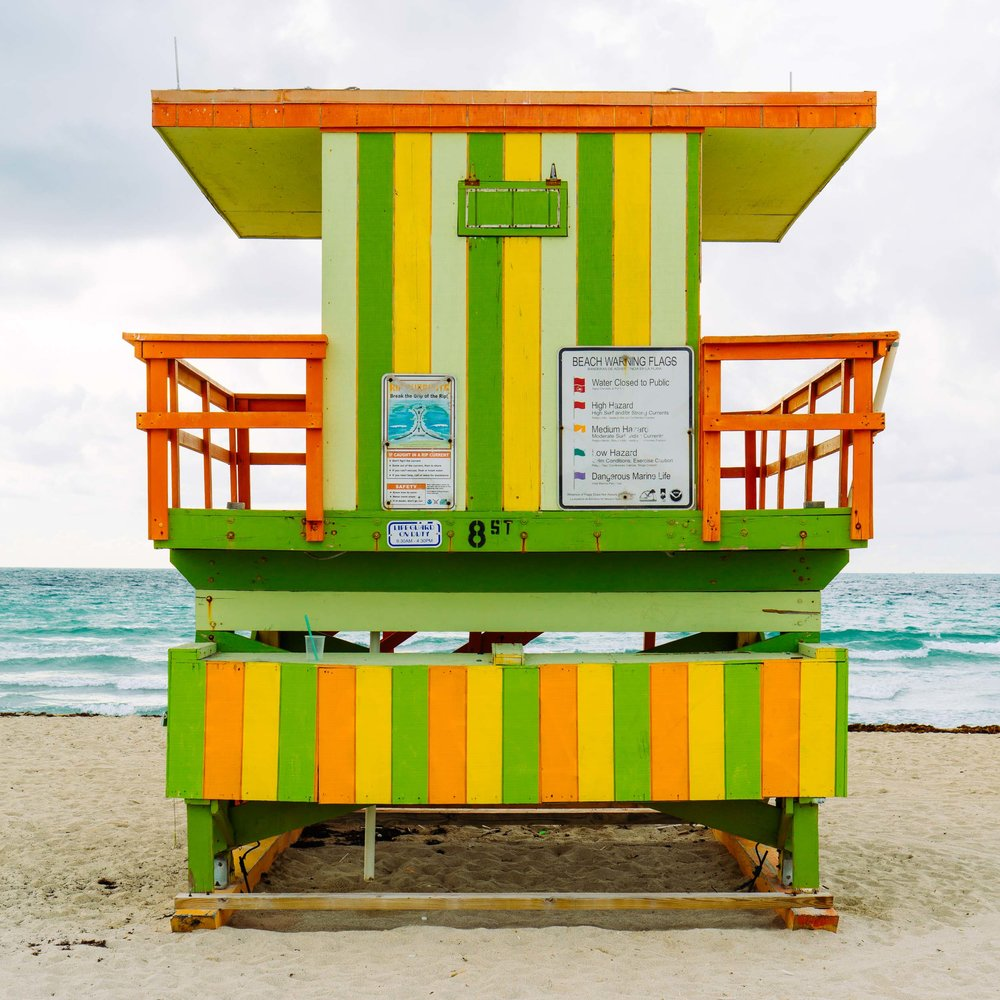 8th St. Miami Lifeguard Stand - Rear View