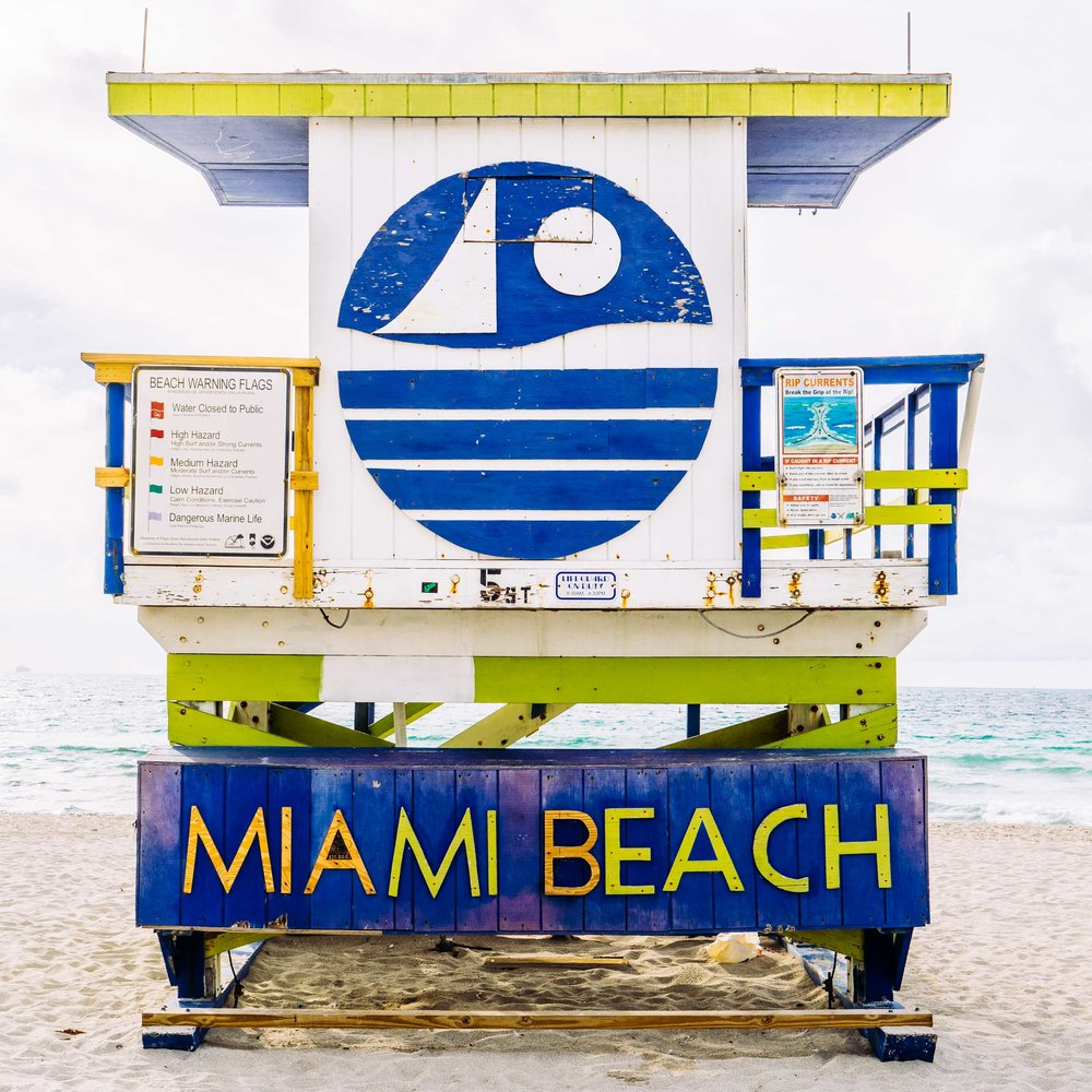 Miami Beach Lifeguard Stand - Rear View