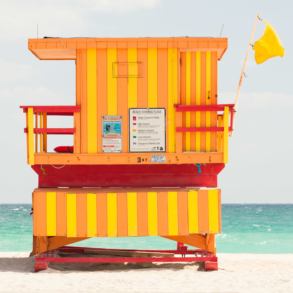 3rd St. Miami Lifeguard Stand - Rear View