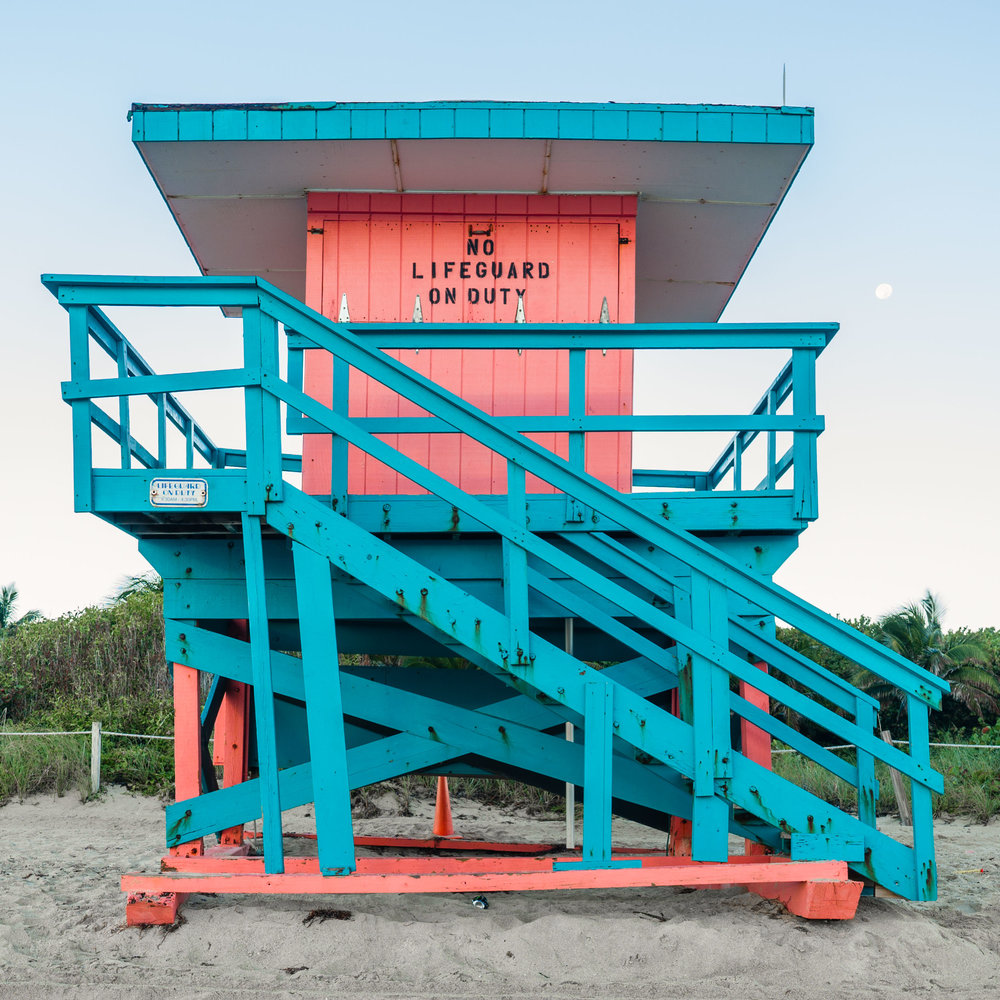 85th St. Miami Lifeguard Stand - Front View