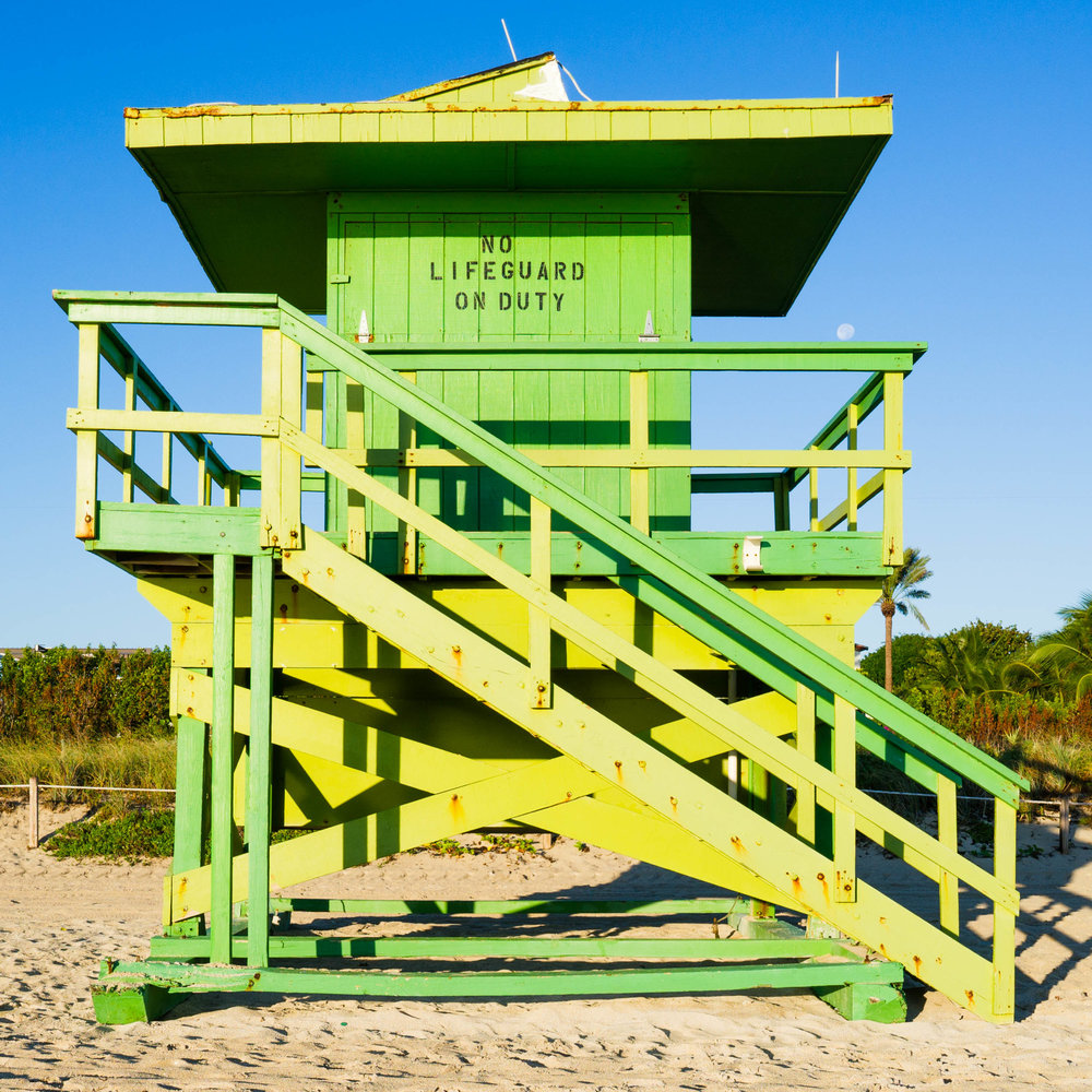 77th St. Miami Lifeguard Stand - Front View