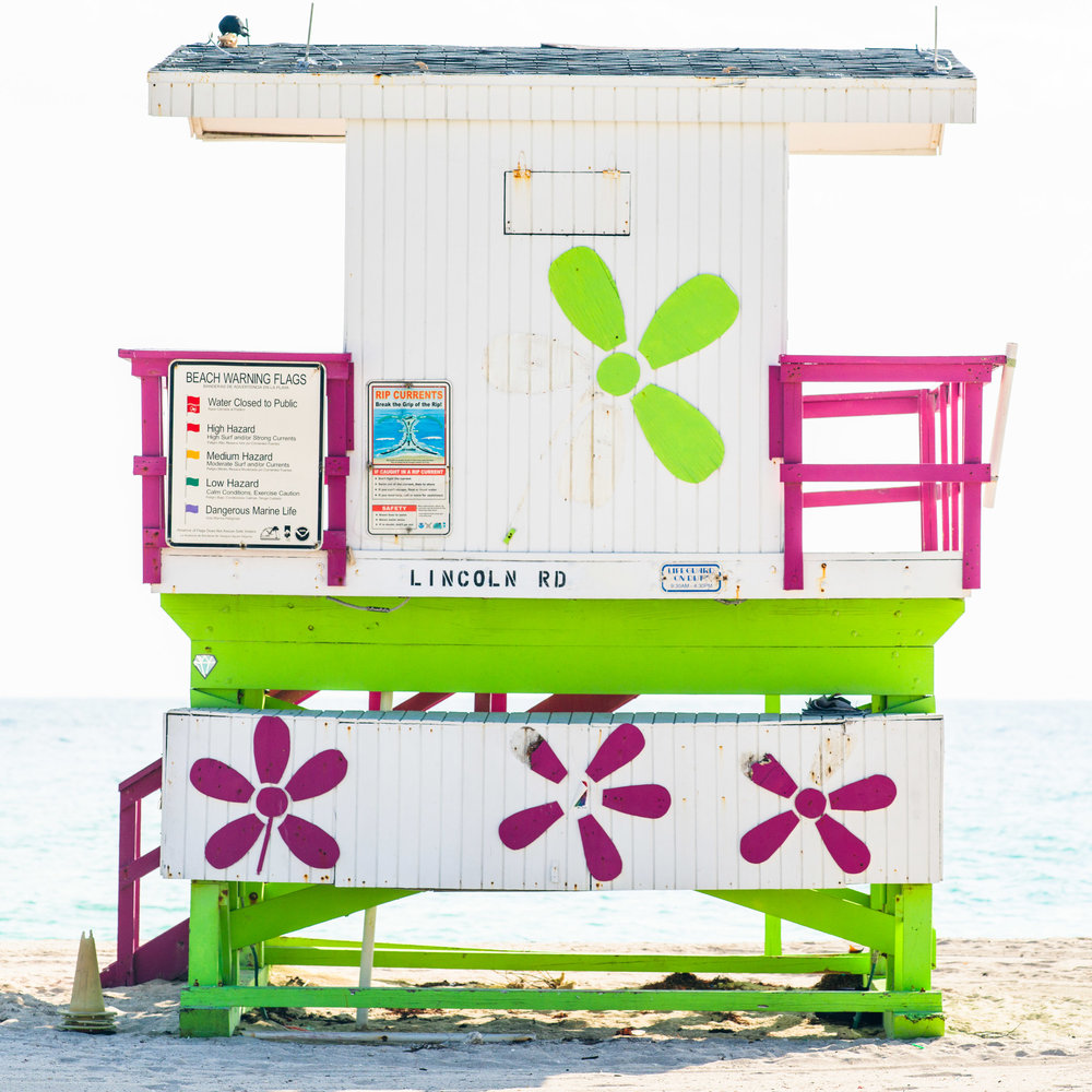 Lincoln Rd. Miami Lifeguard Stand - Rear View