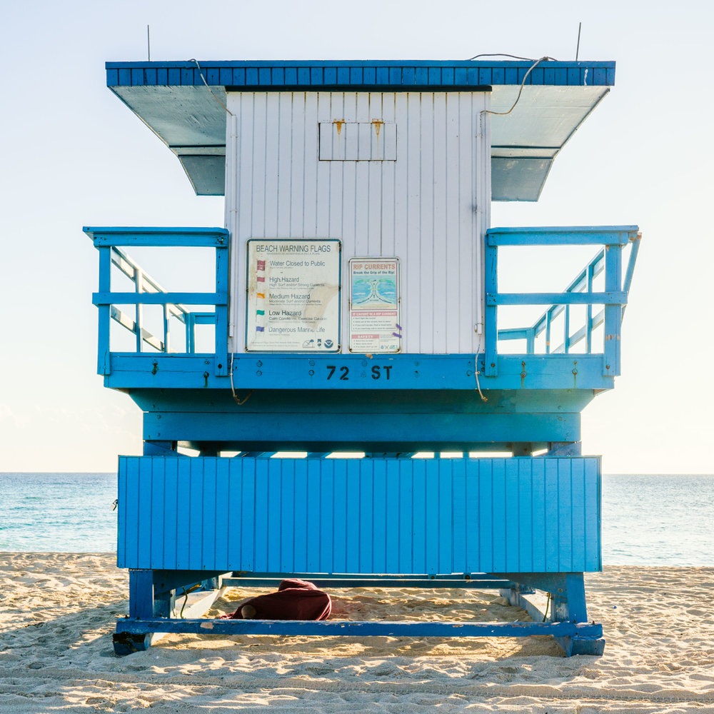 72nd St. Miami Lifeguard Stand - Rear View