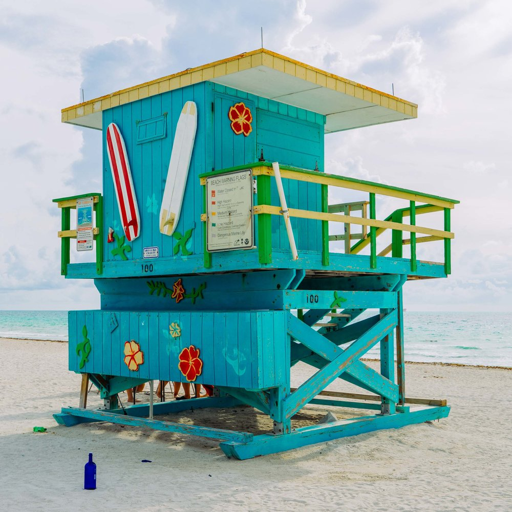 """100"" lifeguard stand near South Pointe Park"