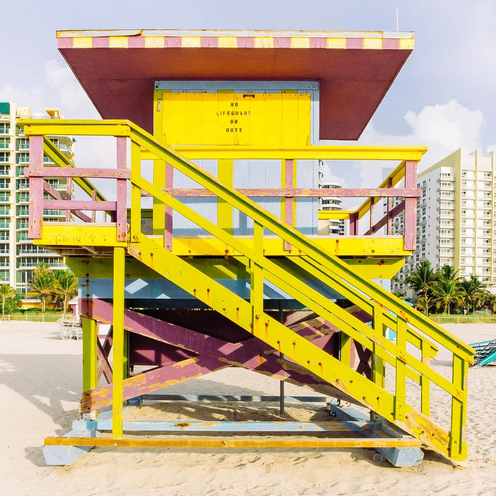 This 15th Street lifeguard stand was designed by a student from Florida International University
