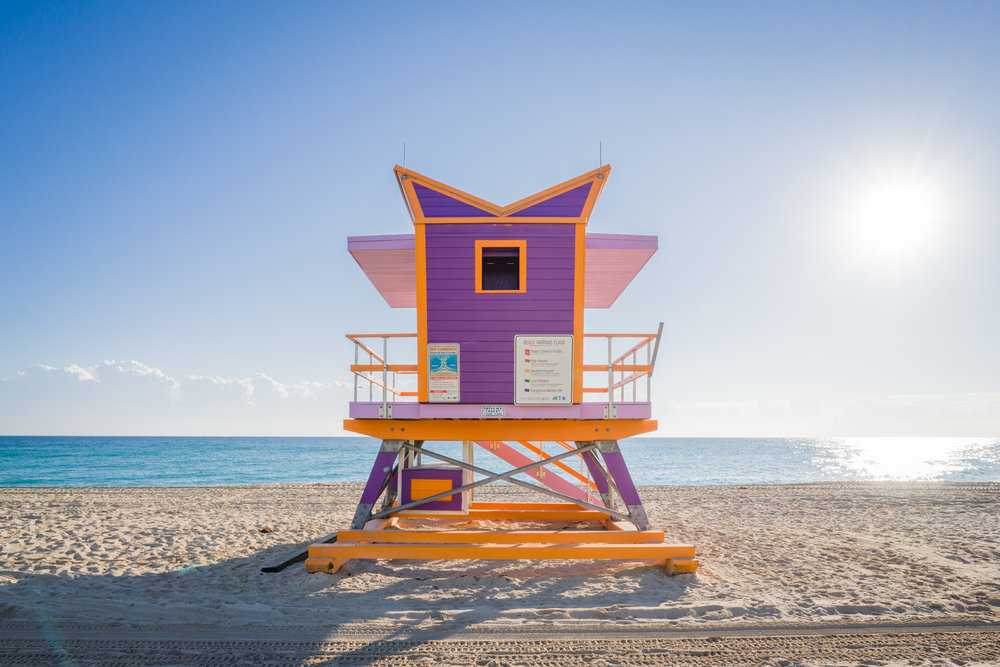 64th Street lifeguard stand - rear view