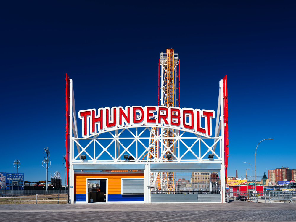 The rather imposing entrance to the Thunderbolt