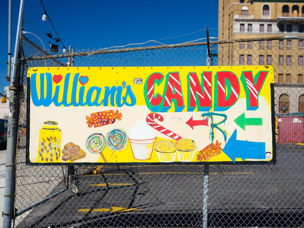 "William's Candy opened at Coney Island in 1936, and sells up to 4000 ""jelly apples"" a week in summer."