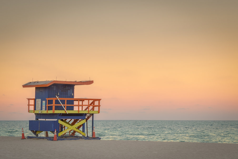 35th Street Lifeguard Stand at Sunset