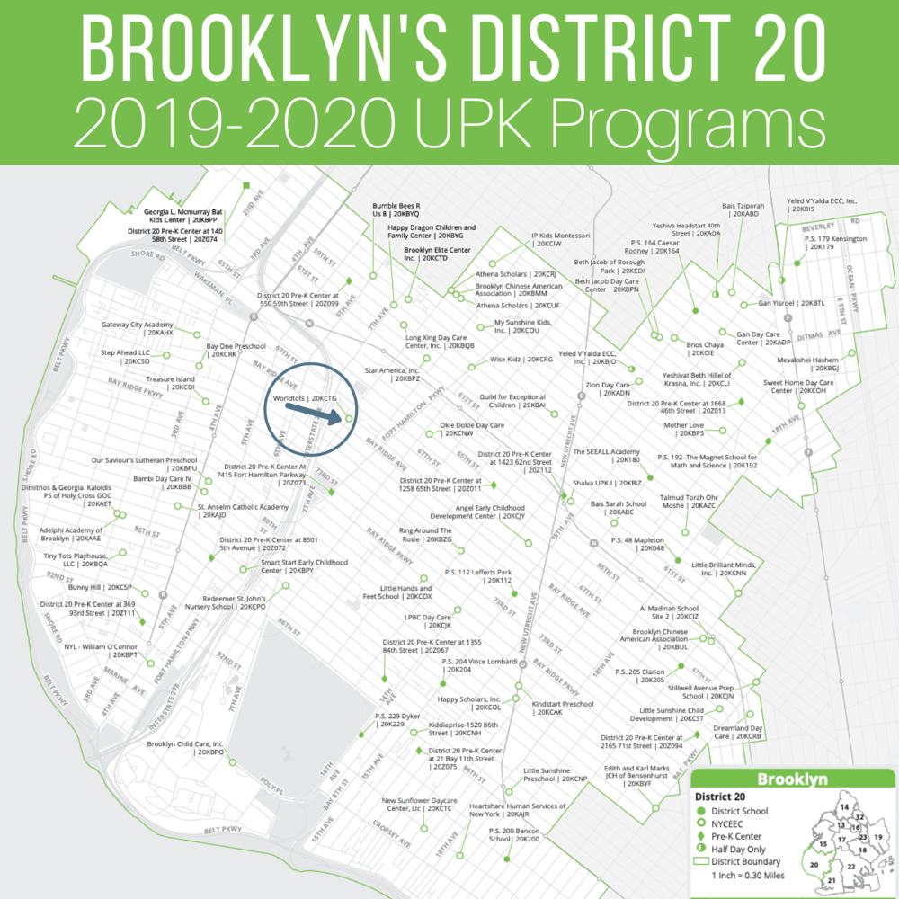 Brooklyn's District 20 UPK Programs for 2019-2020 school year