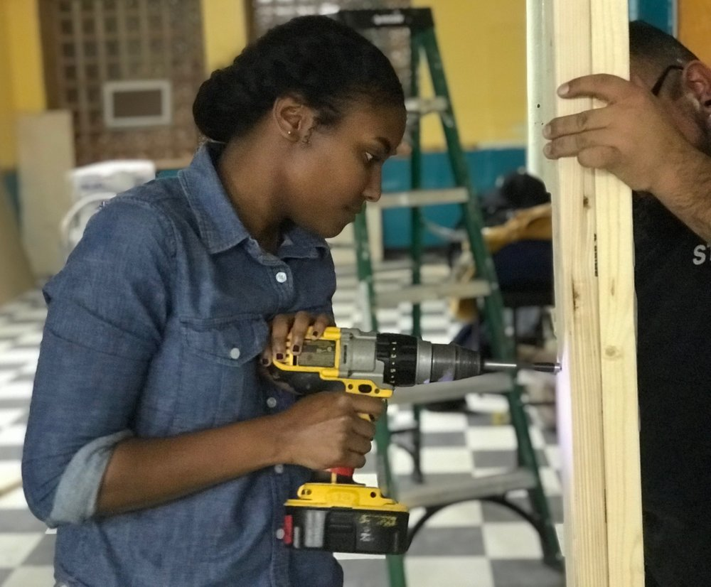 """This year's Project Pipeline Design Build undertaking gave students and mentors the ability to collaborate on a real-life design project for Erie Neighborhood House, an organization with a consequential role in the community for decades."" - — IMANI DIXON, DESIGN BUILD DESIGN MANAGER AND DESIGNER AT GENSLER"
