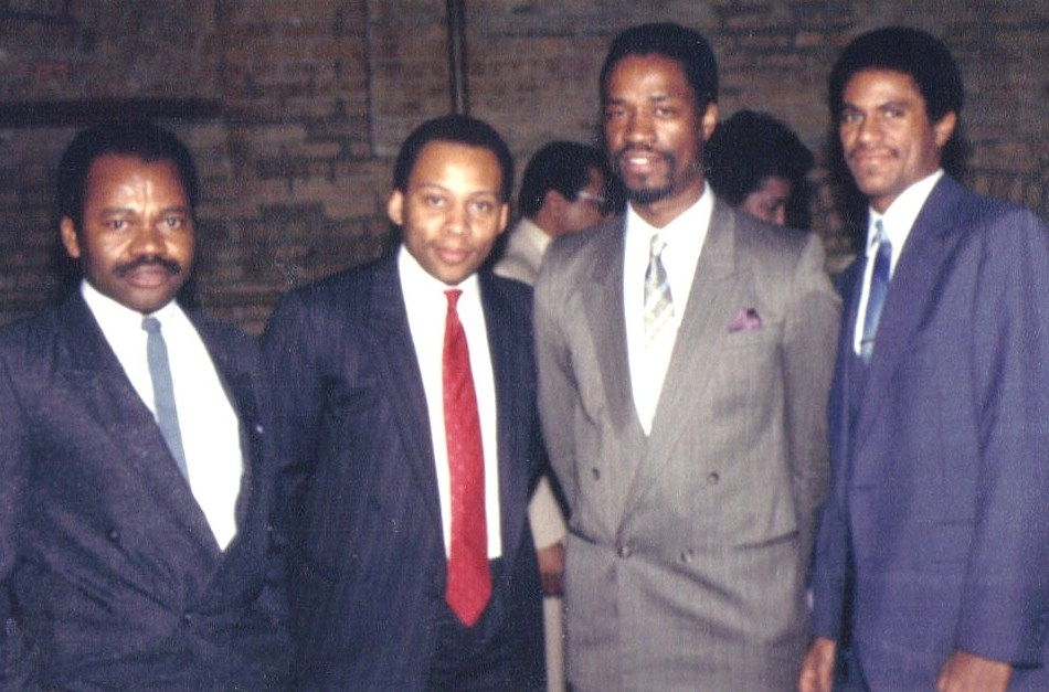 1986 - [Left to Right] Felix Ichile, Erroll O'Neil, Robert Andrews, Mike Rodgers
