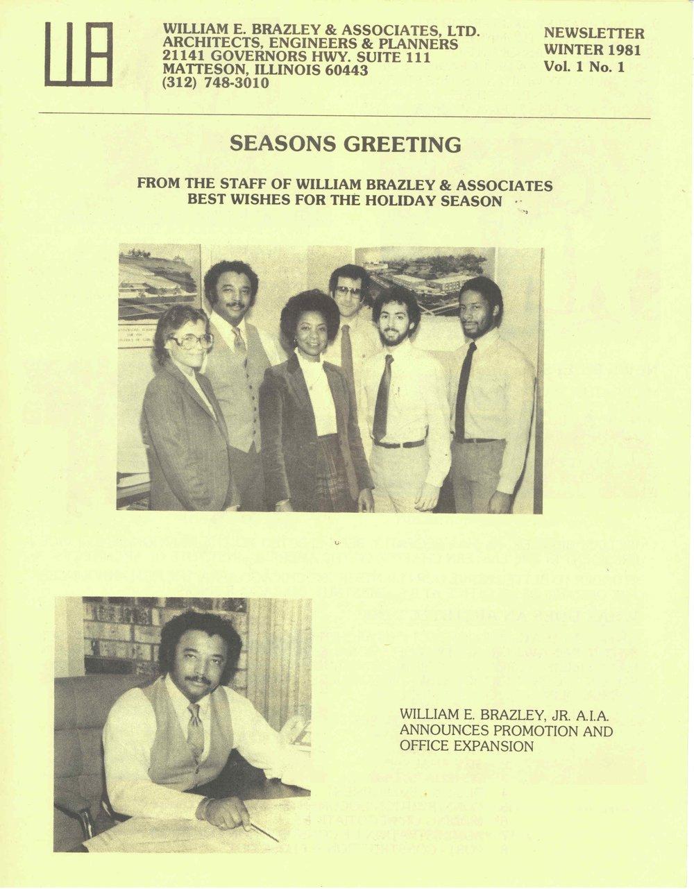 1981 - Williams Brazley & Associates Holiday Card