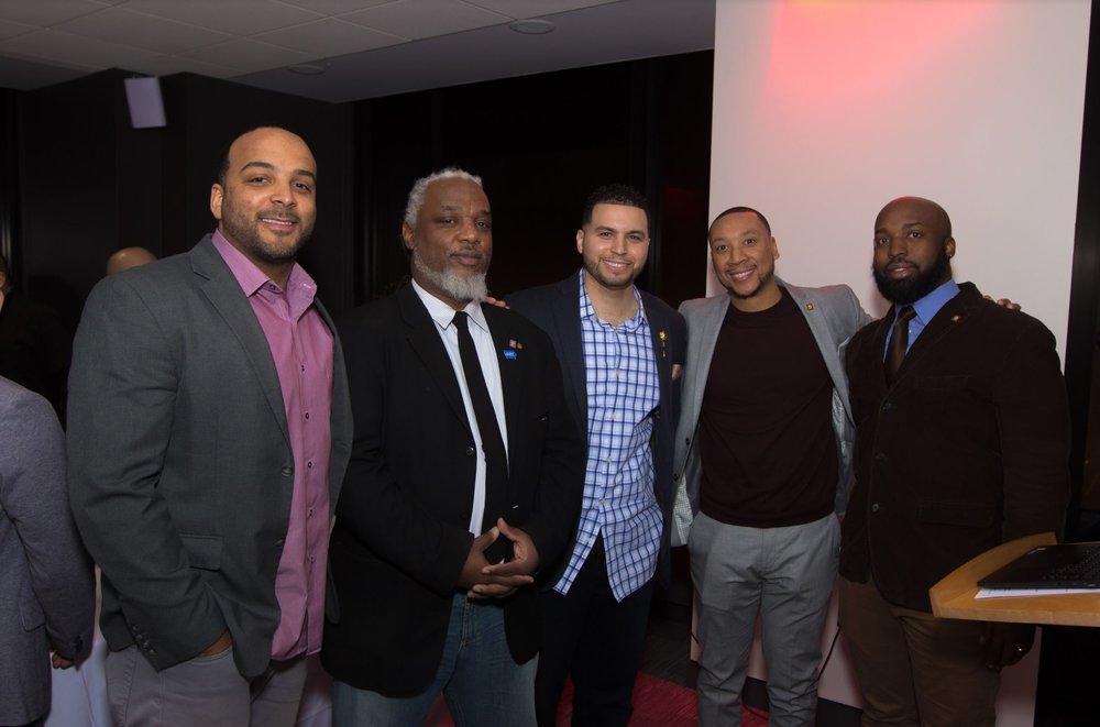 2017 - [Left to Right] Jason Pugh, Bryan Hudson, Oswaldo Ortega, Kareem Cousar, Darren Triplett - 2017 I-NOMA Holiday Party - Willis Tower