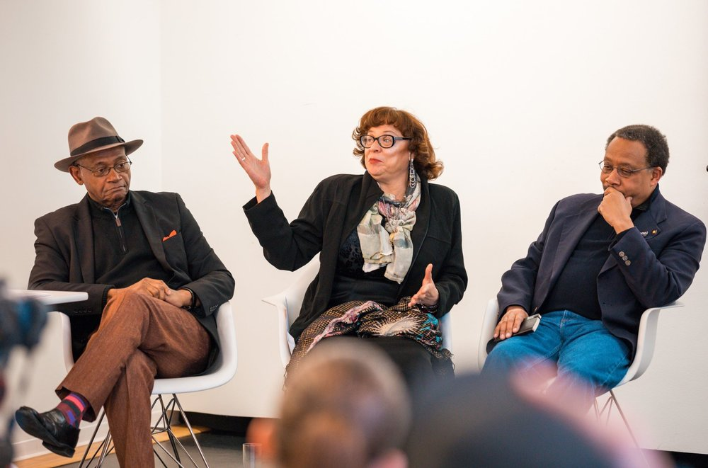 2019 - [Left to Right] Charles Smith, Susan Carlotta, Walter Street III - Legacy Panel Event at SOM