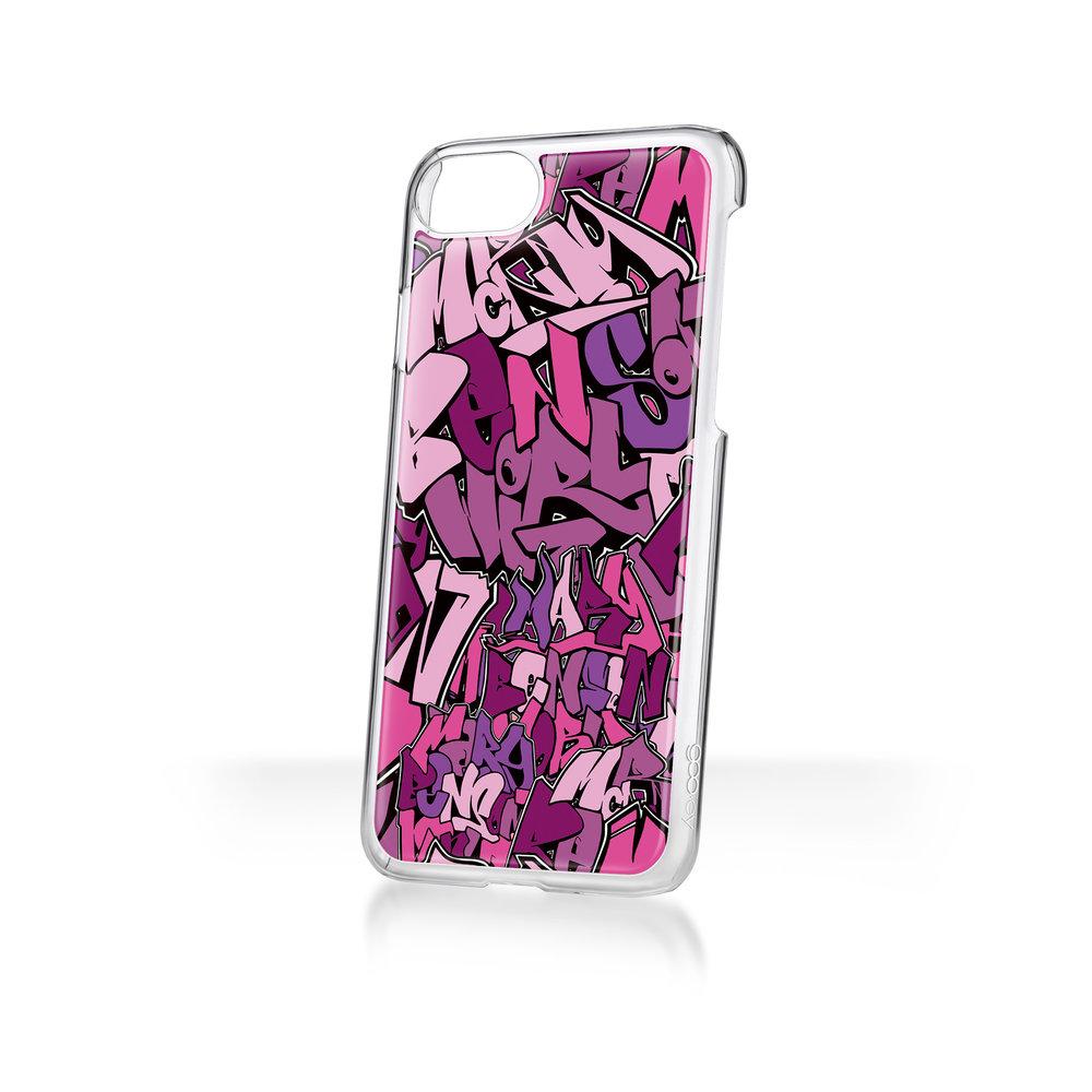 Mary Benson x goo.ey - Apple iPhone 8/7/6 CaseGraffiti - Purple