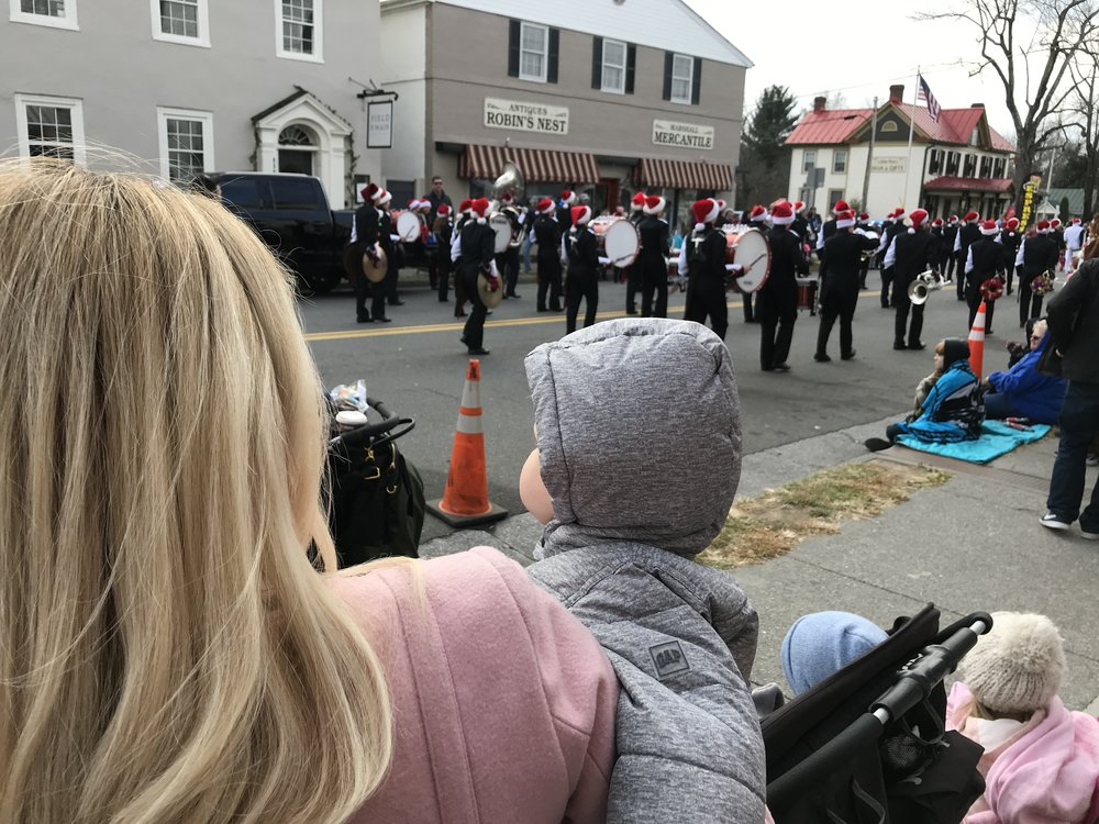 This is the small town Marshall Christmas parade in 2017.