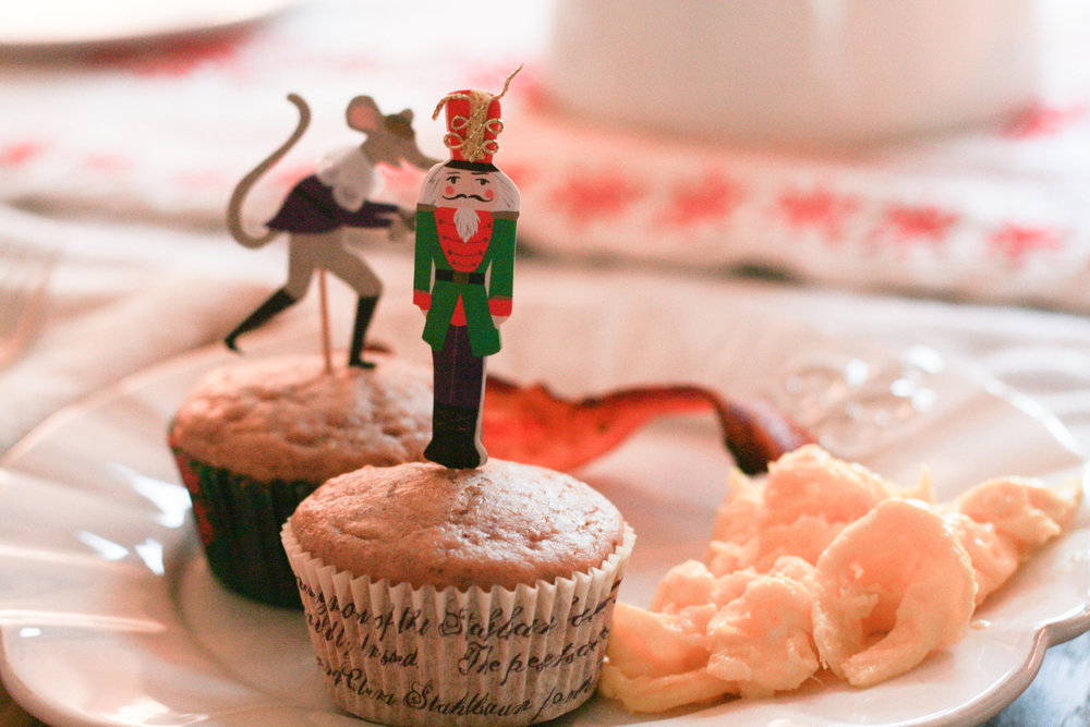 Muffin toppers made breakfast fun on Nutcracker Ballet day!