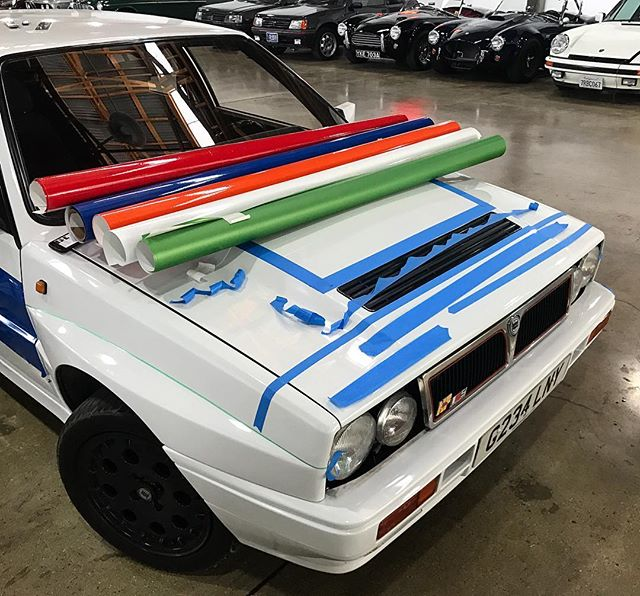 Colors of the champions 🎨 #awd#turbo#dreamcar#italian#gp#rally#vinylwrap#design#livery#lanciadeltaintegrale#vinyl#graphics#works#create#humpday#dellastrada#upscalestudios