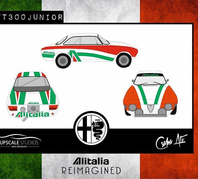 We love Alfas, Alitalia GTV Junior  #gtv#alfaromeogiulia#rally#vintage#racecar#alitalia#vinylwrap#losangeles#california#layerednotprinted#italian#1970#t300#junior#decals#periodcorrect