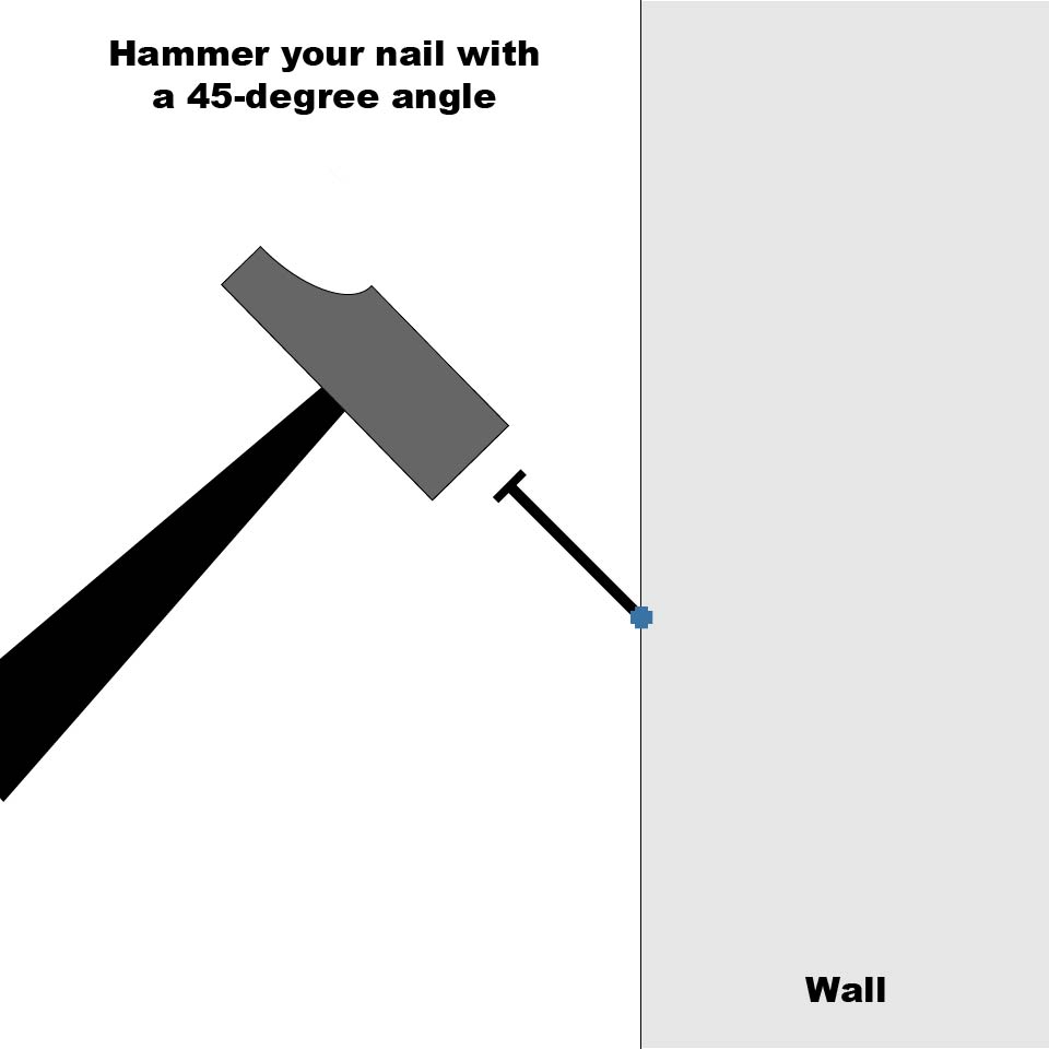 Hammer 45 degree le handyman