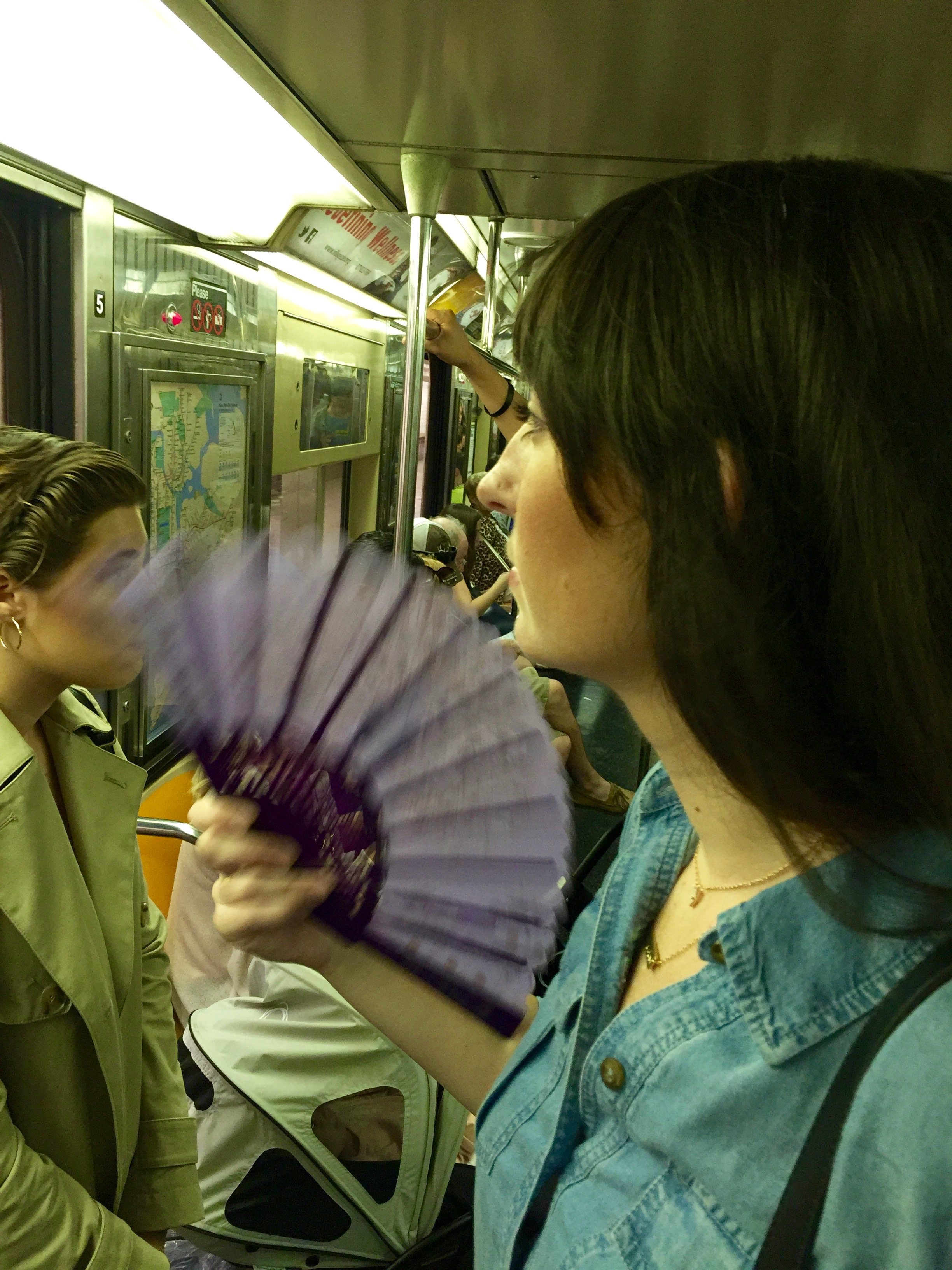Subway expert tip: buy a fan.
