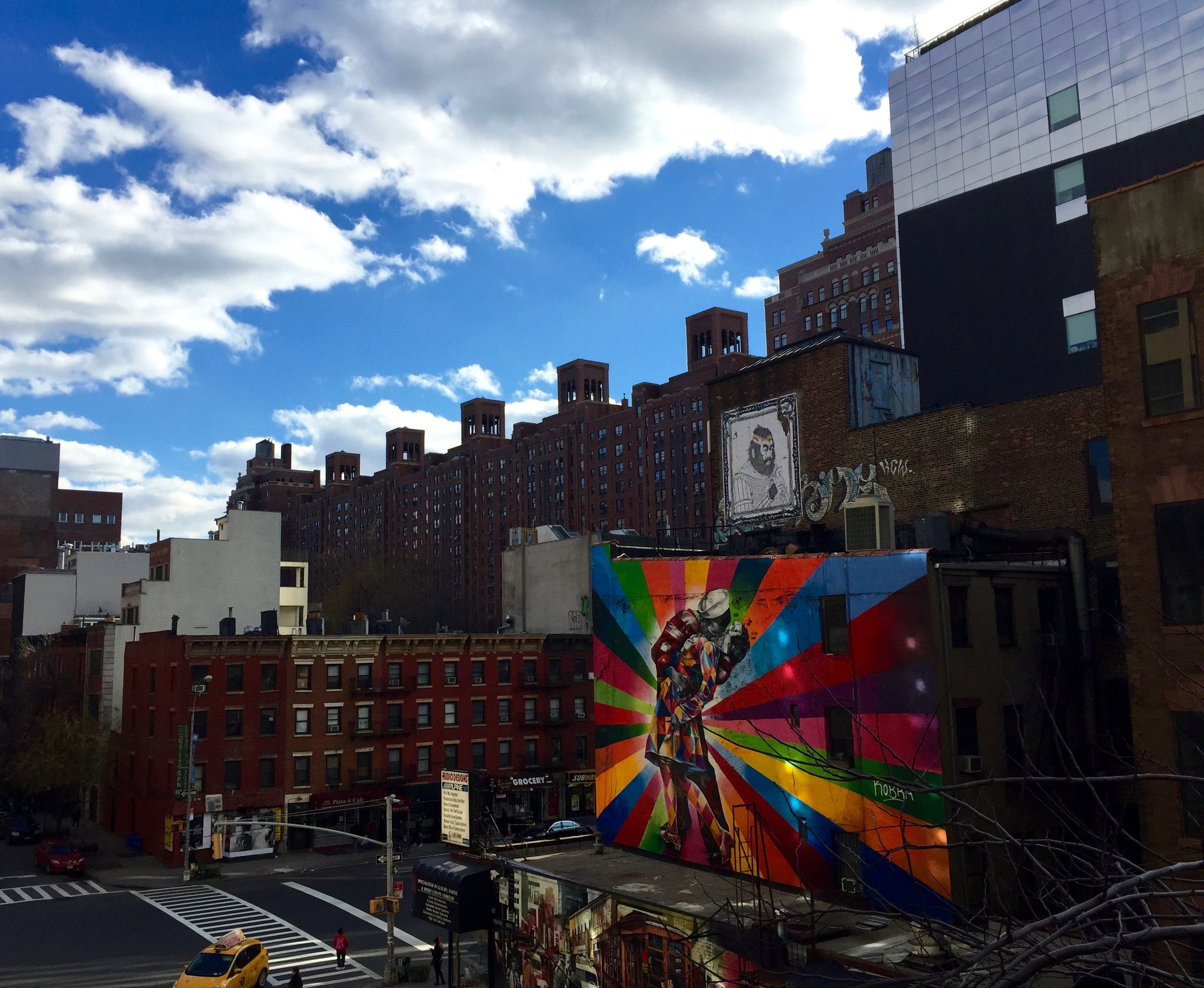 City views from the Highline