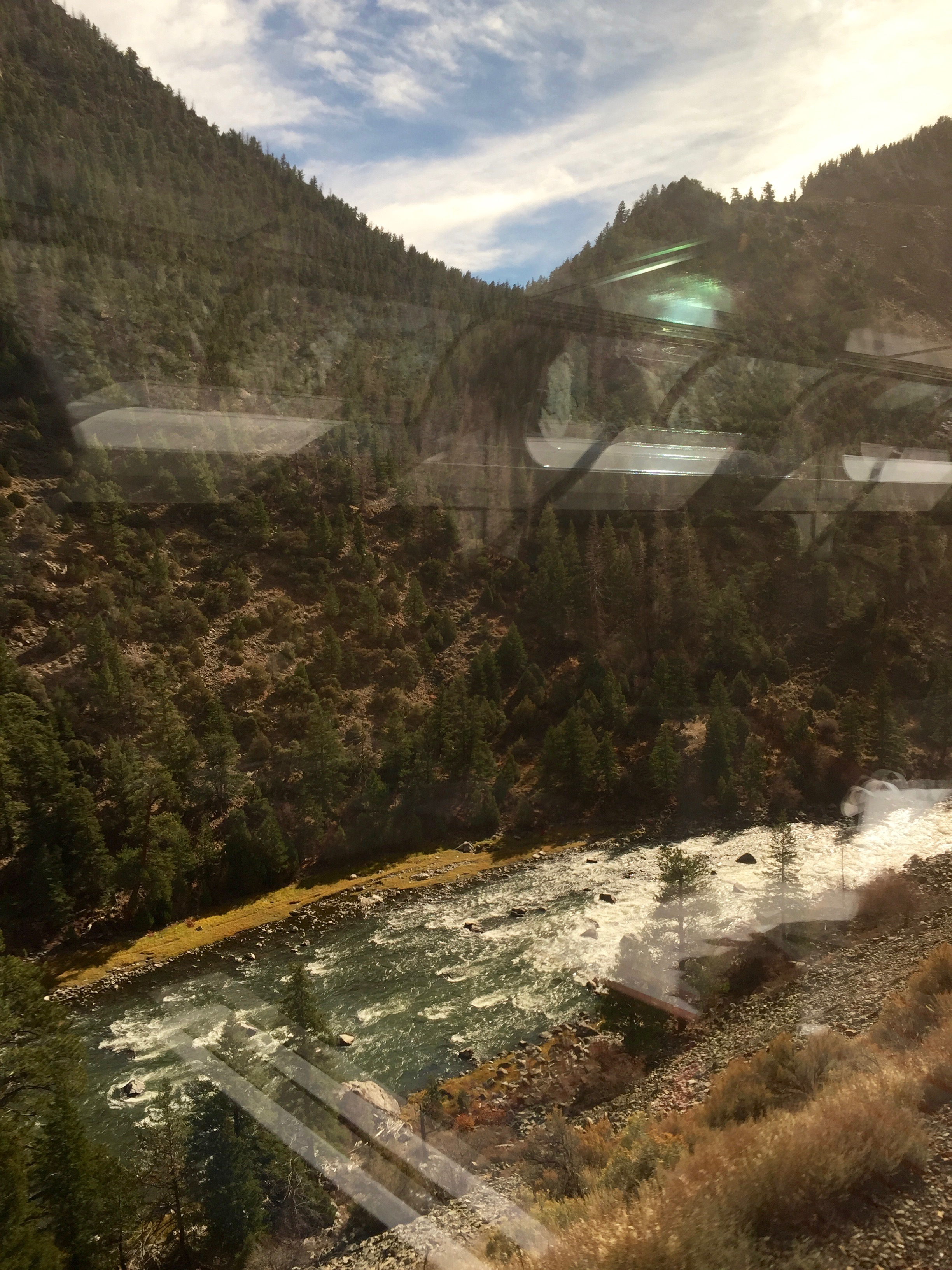 River through the Rockies