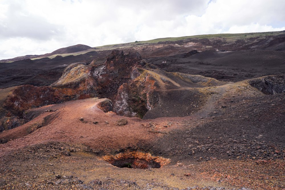 The martian landscape of Volcano Chico on the other side of the Sierra Negra