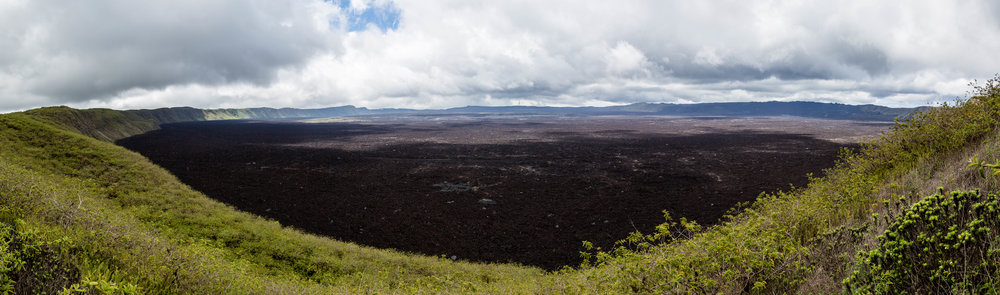 - A panoramic view of the second widest volcano crater in the world after that of the Ngorongoro volcano in Tanzania. It's 10 km in diameter and parts of it were covered with a new layer of lava during the last eruption in 2005