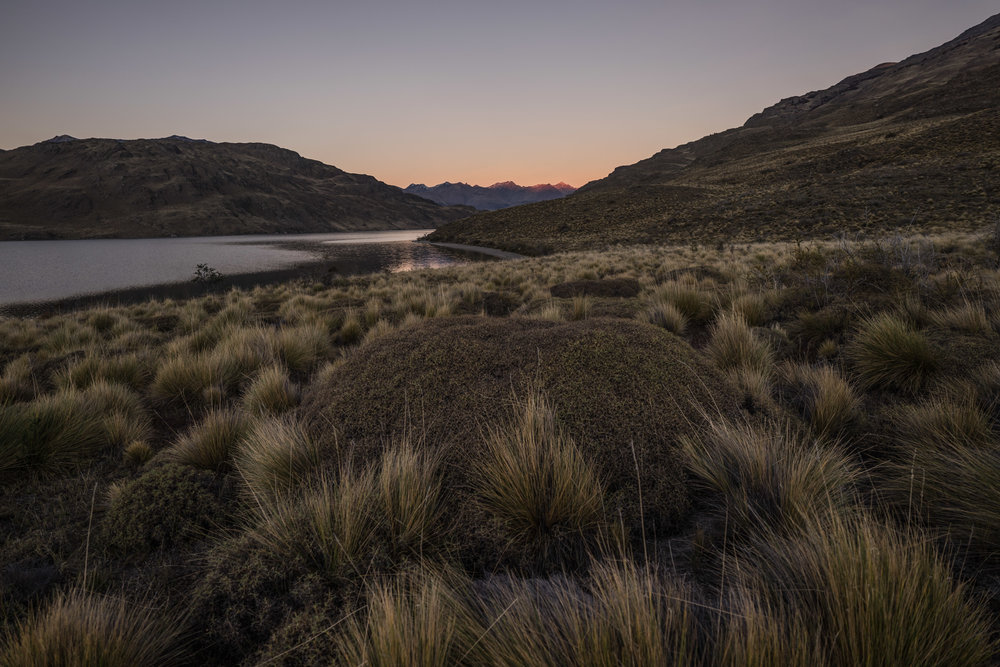 Night sets in at our second camp after crossing into the Patagonia Park