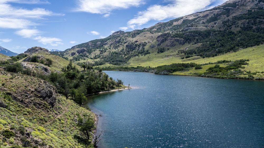 The isolated and pristine Lago Chico -