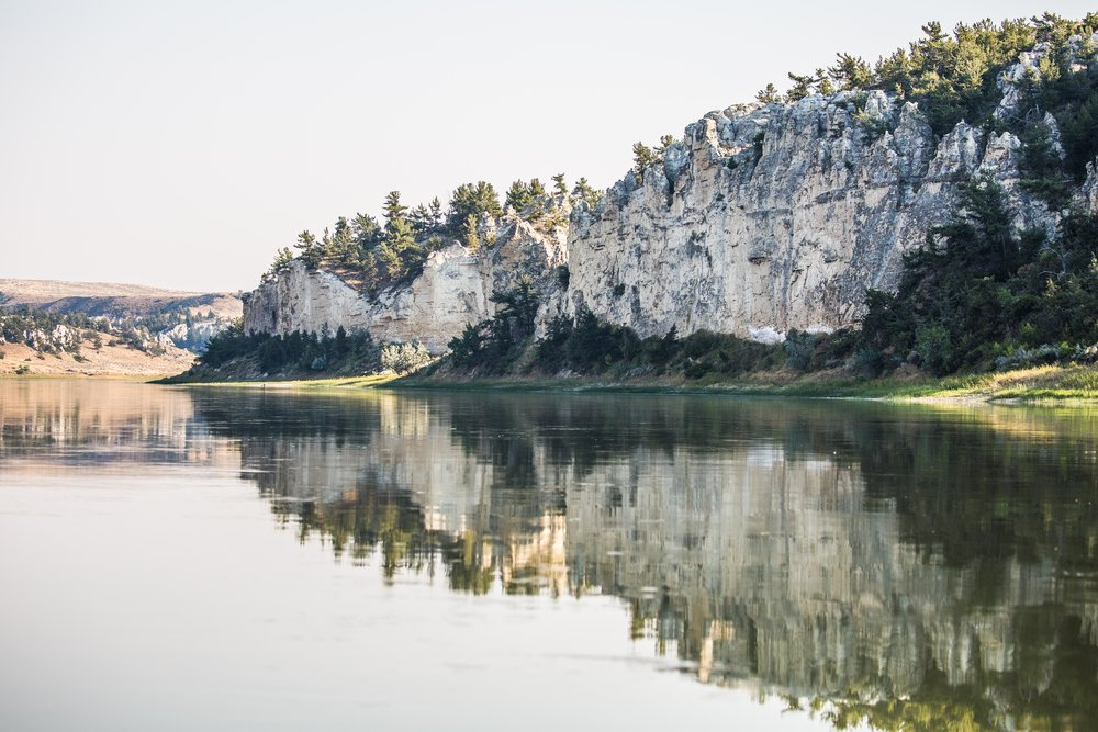 - The beautiful white cliffs and lush green banks along the Upper Missouri River Breaks National Monument. This 149-mile section of the river was named a National Wild and Scenic River in 1976.