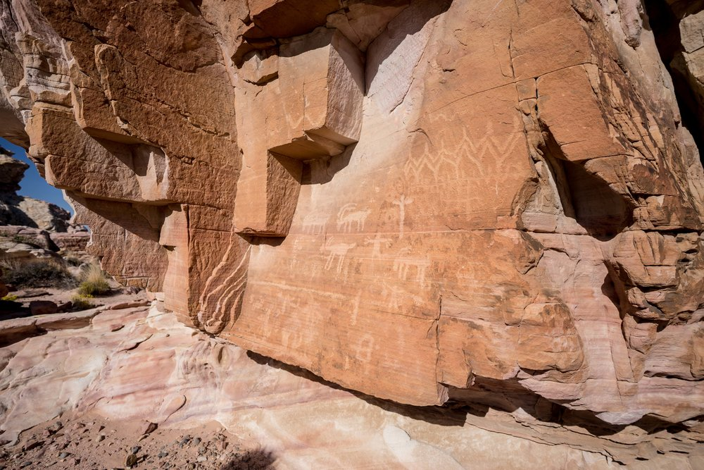 - A few of the numerous petroglyphs standing testimony to the habitation and passage of Native people throughout this beautiful region. When visiting these sites, respect is important. They hold a sacred importance for several tribes and they are fragile traces of our human history.