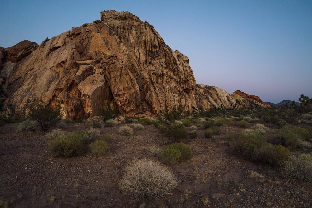 - Gold Butte after sunset