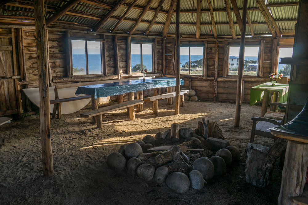 - Inside the hut where we pitched our tent