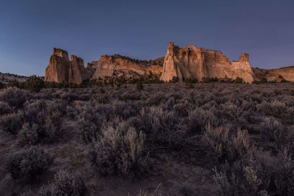 Grosvenor Arch at sunset in the Grand Staircase-Escalante National Monument