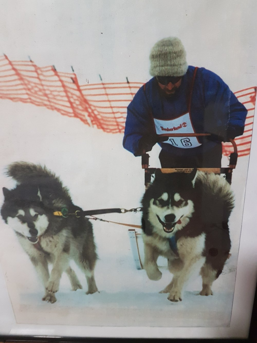 """My first snow race back in 1994 with Mikya and Badger"""