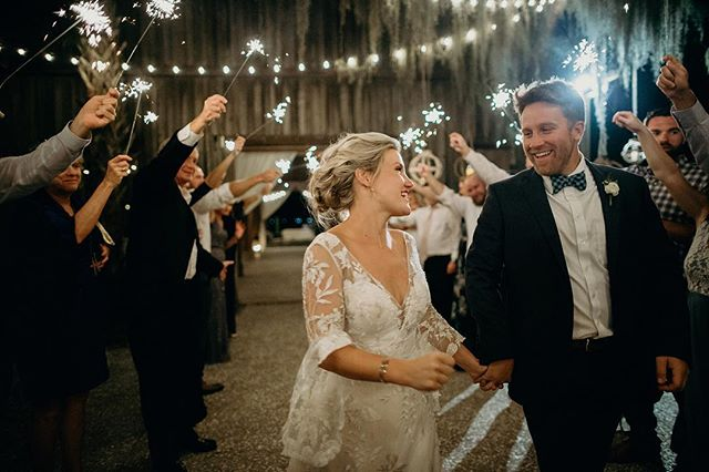 Check out that unbridled joy from the newlywed Martins!