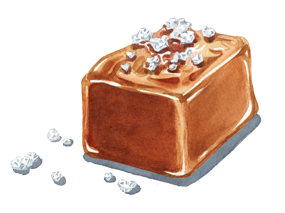 Salted Caramel Hand Drawing