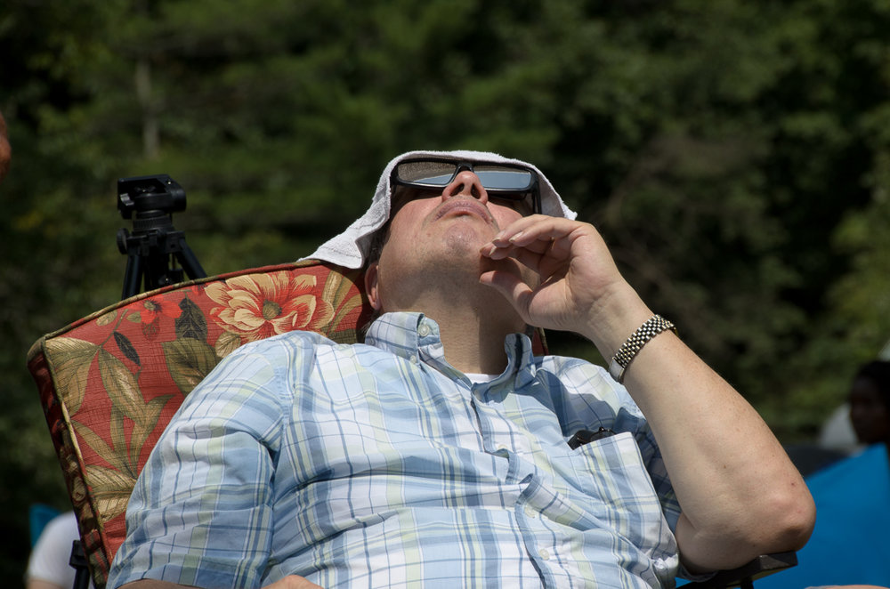 Watching People Watch the Eclipse