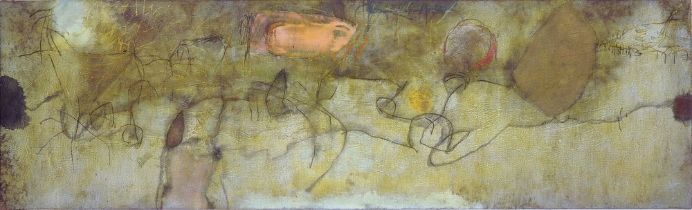 Sense títol  , oli, pastell i carbó sobre tela, 1989, 60 x 198 centímetres