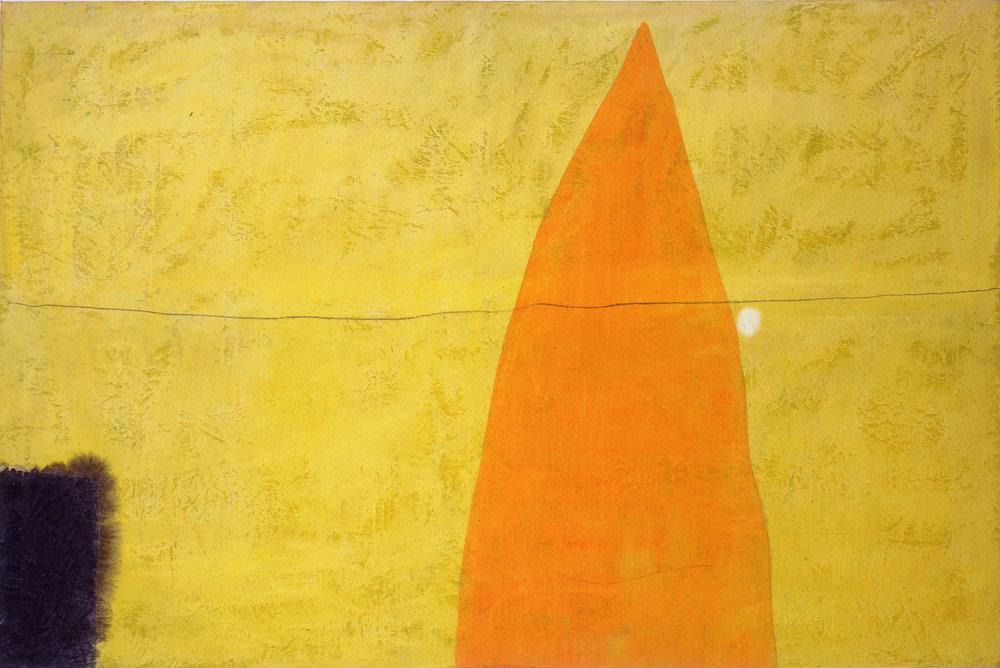 Sense títol  , oli i carbósobre tela, 1990, 200 x 150 centímetres